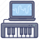 controller, keyboard, midi, music icon