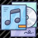 album, cd, music icon