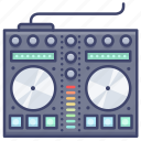 control, dj, mixing, sampler icon