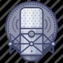 microphone, recording, studio icon