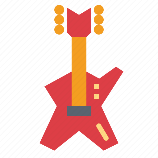 electric, guitar, instrument, string icon
