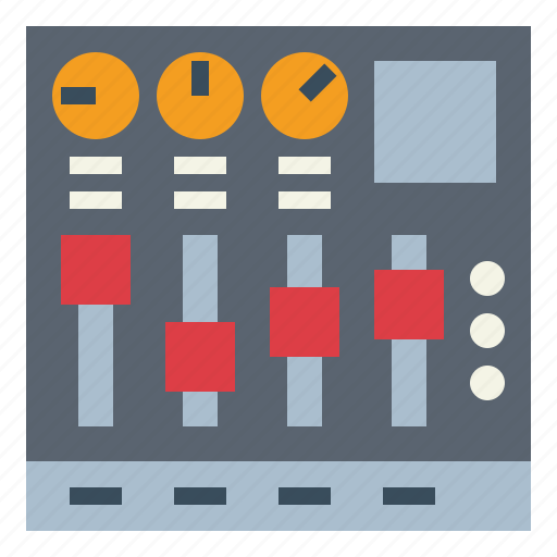 equalizer, mixer, music, player, sound icon