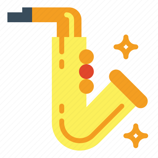 music, sax, saxophone icon