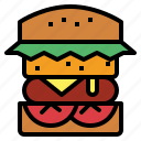 fast, food, hamburger icon