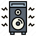 amplifier, audio, speaker icon