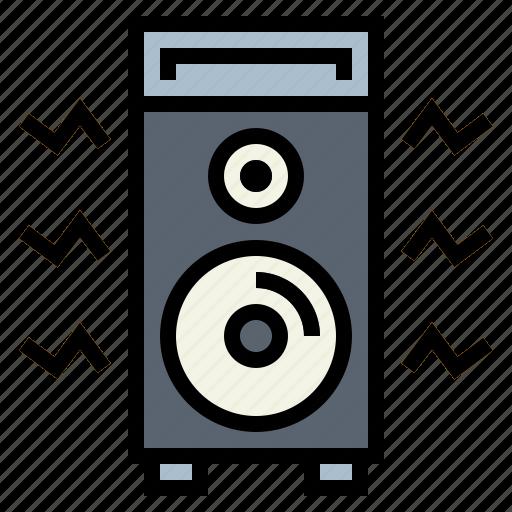 amplifier, audio, speaker icon