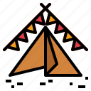 camping, sleep, tent icon