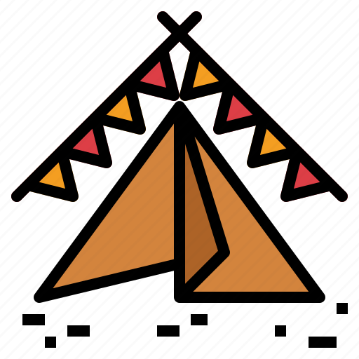 camping, sleep, tent icon