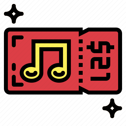 concert, entry, ticket icon