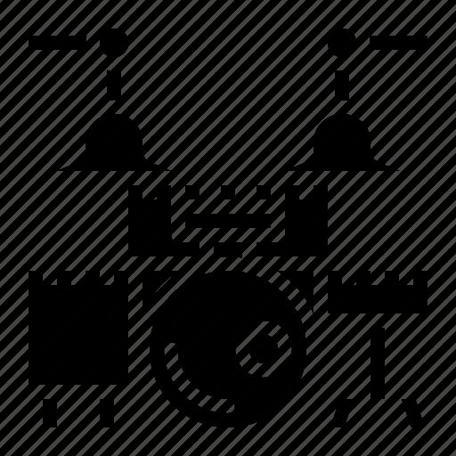 Drum, music, set icon - Download on Iconfinder on Iconfinder