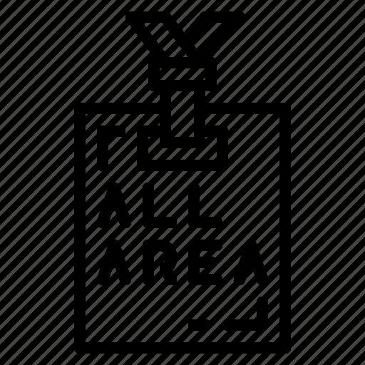 id, pass, staff icon
