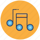 audio, media, music, notes, play, song, sound icon