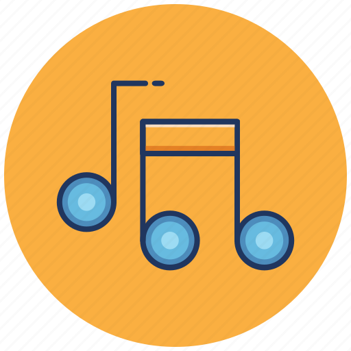 Notes, music, song, sound, media, play, audio icon