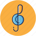 audio, clef, music, play, sound, treble icon