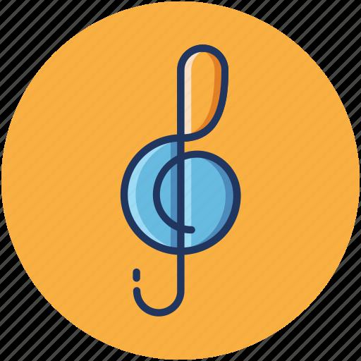 audio, clef, music, play, sound, treble icon