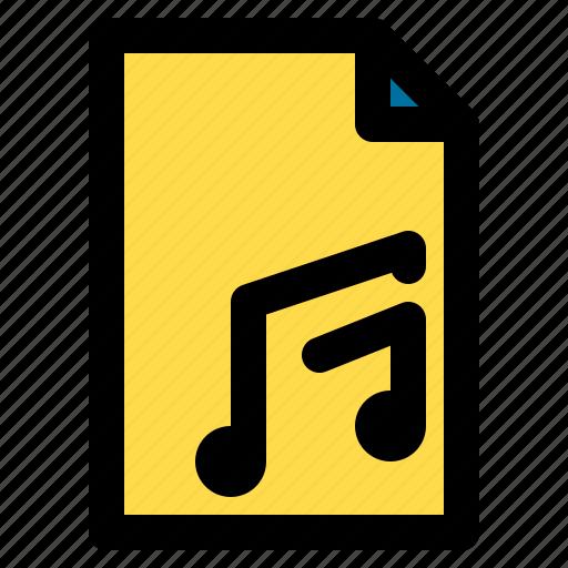 entertainment, file, melody, music, sound icon