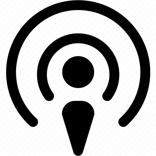 antenna, broadcast, itunes, mic, microphone, podcast, radio icon