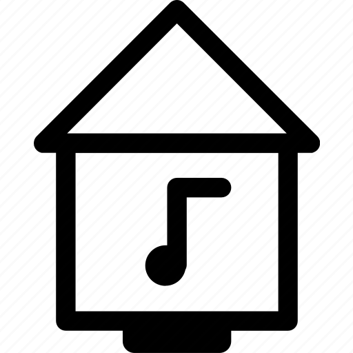 home, house, hut, itunes, library, shared, villa icon