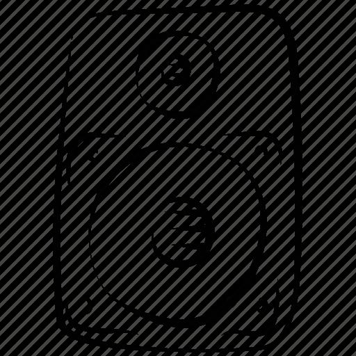 loudspeaker, music, sound, sound box, speaker, subwoofer, woofer icon