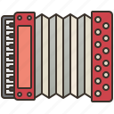 accordion, acoustic, classic, harmony, retro icon