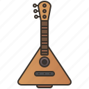 balalaika, classical, folk, guitar, traditional icon