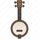 banjo, country, music, string, traditional icon