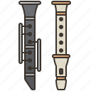 band, blow, clarinet, orchestra, recorder icon
