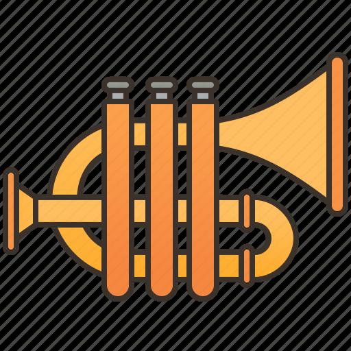 Brass, cornet, instrument, jazz, symphony icon - Download on Iconfinder