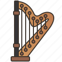 classical, harp, orchestra, philharmonic, string icon