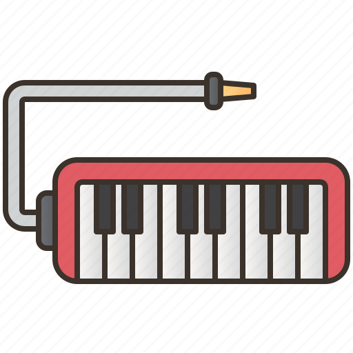 blowing, instrument, keyboard, melodica, melody icon