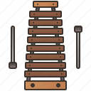 mallet, melody, musical, sound, xylophone icon