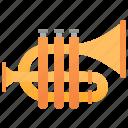 brass, cornet, instrument, jazz, symphony icon
