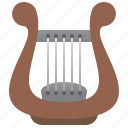 ancient, greek, harp, instrument, lyre
