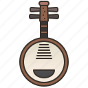 ancient, chinese, instrument, music, yueqin