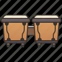 bongo, drum, latin, music, percussion