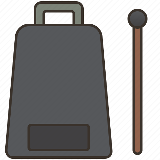 Cowbell, drumming, metal, percussion, rhythm icon - Download on Iconfinder