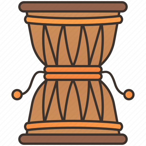 damaru, drums, indian, percussion, tradition icon
