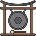 asian, gong, instrument, sound, traditional