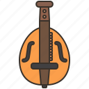 ancient, gurdy, hurdy, instrument, string icon