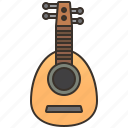 acoustic, folk, instrument, lute, music icon