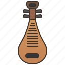 acoustic, chinese, instrument, pipa, string