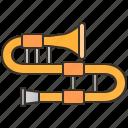classical, instrument, jazz, music, trombone icon