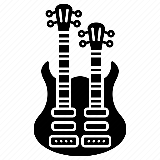 double, electric, guitar, rock, string icon