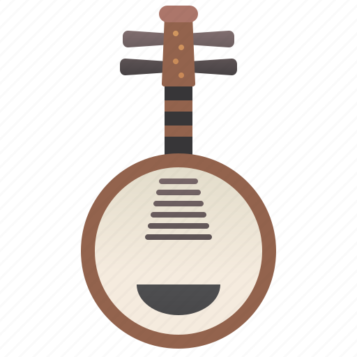 ancient, chinese, instrument, music, yueqin icon