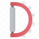 atlas, bell, rhythm, shaker, sound icon