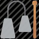 agogo, bells, double, metal, percussion icon