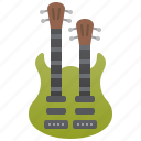 double, electric, guitar, rock, string