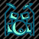 beat, drum, instrument, kit, music, set icon