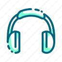 earphone, headphone, headset, listen, music, sound icon