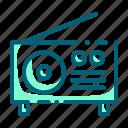 audio, media, music, radio, retro, vintage icon
